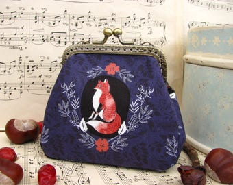 Coin purse clutch with animals