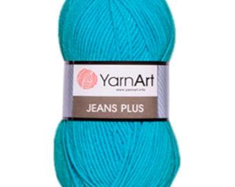Yarn YarnArt Jeans Plus. Сotton blend acrylic.
