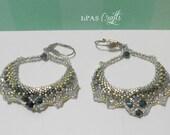 Large silver crystal earrings