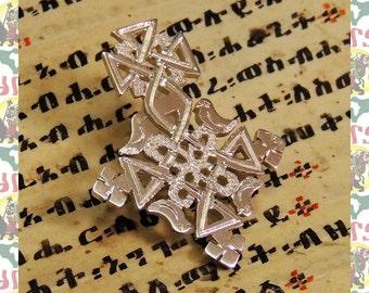 Ethiopian Cross  Silver Brooch