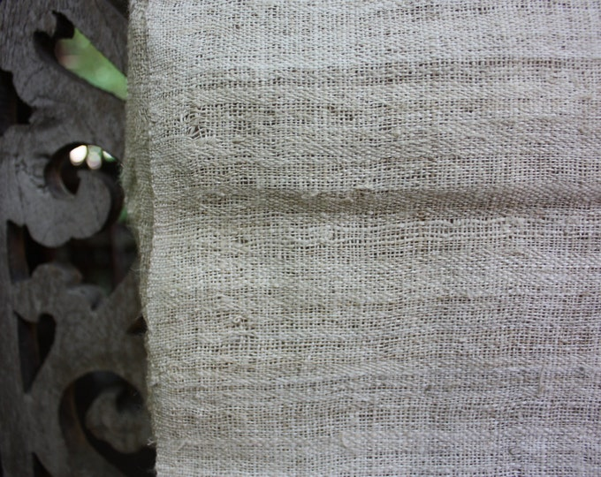 Handspun Handwoven Hemp Runner Cloth