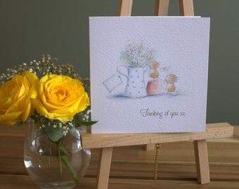 """5"""" x 5""""  Thinking of you card"""