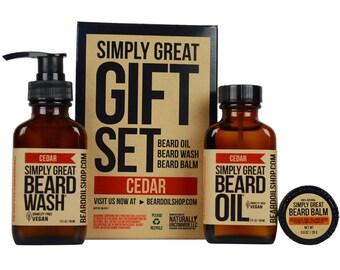 Beard Oil CEDAR Simply Great Gift Set by Simply Great