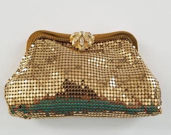 Whiting & Davis Gold Mesh Handbag  #38