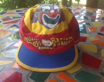 Vintage Ringling Brothers and Barnum and Bailey Circus souvenir painter's cap- 1980