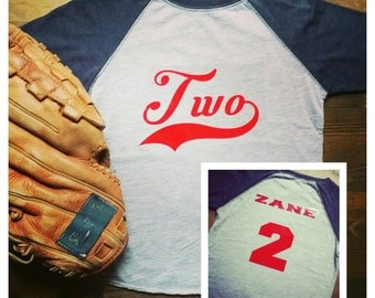 Baseball Birthday Shirt - Baseball 2nd Birthday Shirt - Baseball Birthday Outfit Raglan - Boys 2nd Birthday Shirt - Baseball Birthday Party