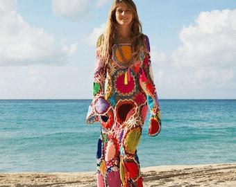 Crochet dress  - made to order - hand made - BOHO dress - 100% cotton