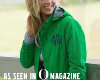 Rain Jacket ~ Charles River Logan Jacket ~ Monogrammed Rain Jacket ~ Waterproof Jacket ~ Women's Monogrammed Jacket