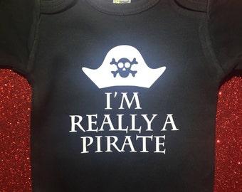 I'm Really A Pirate Onesie