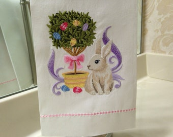 Easter Topiary Guest Towel