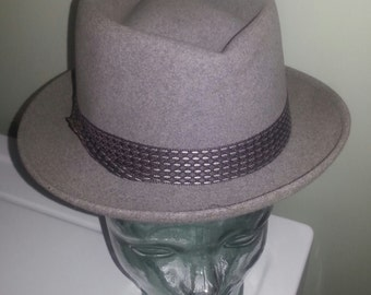 """Vintage '60s Men's """"The Bearcat"""" by Mallory Fedora/Stetson Hat"""