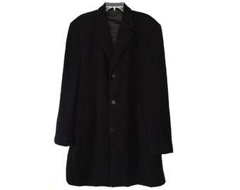 Vintage men coat wool overcoat