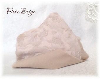 Italian VISCOSE Fabric Fur Rose Beige Colour 6 mm pile 1/8 metre or more teddy bear making supplies plush