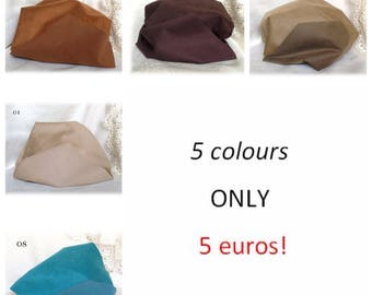 SIMILSUEDE KIT 5 colours double sided Miniature Teddy Bear Fur for paws ears shoes teddy bear making supplies