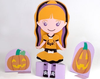 Printable Paper Doll Halloween Lily