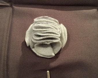 Felt Flower lapel pin