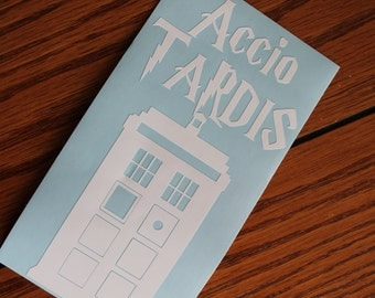 Accio TARDIS, Harry Potter Doctor Who decal