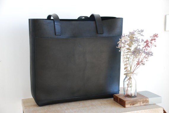 2fdbfc7e3d4f5 Large Leather Tote Bags With Outside Pockets