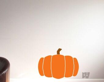 Pumpkin Wall Decal. Halloween Vinyl Decal. Thanksgiving Decor. Pumpkin Decal. Office Decals. Wall sticker. Home decor decals.