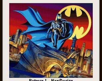 cross stitch pattern, cross stitch, Batman 1 - PDF pattern - instant download!
