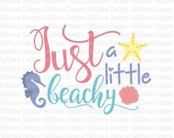 Beach svg - Beach cut file - summer svg - summer cut file - fish svg - fish cut file - just beachy cut file - just beachy svg