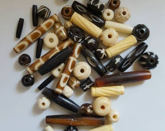 65 Bone and Horn Beads