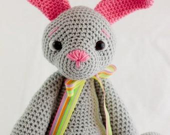 Crochet Amigurumi Bunny Toy - Paisley - Ready to Ship