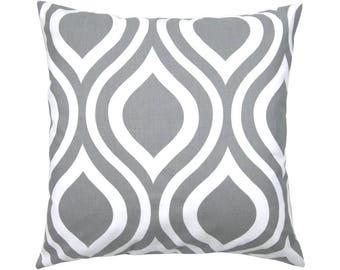 Pillowcase EMILY grey white 40 x 40 cm retro graphic