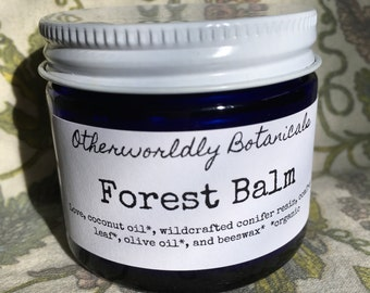 Forest Balm, Pine Salve, Conifer Resin, Coconut Oil, Beeswax, Skin Protective