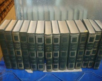 Set of 14 D.H. Lawrence Vinyl covered books by Heron Books.