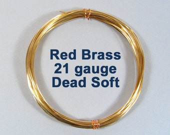 21ga 50ft DS Red Brass Wire