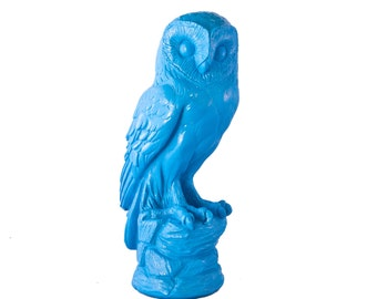 Owl Statue - Retro Hand Painted Kitsch Home decor Animal Statue
