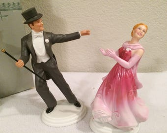 VTG  Fred Astaire & Ginger Rogers  FIGURINES - 1984 Avon Images of Hollywood