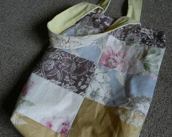 Medium tote bag - flowers