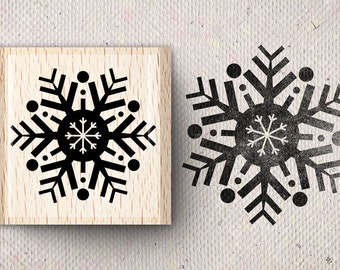 Stamp with snowflake Smilla X 4.0 x 4.0 cm