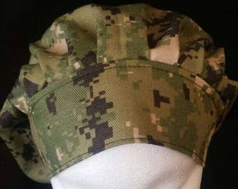 US Navy NWU III Camo Bouffant Surgical Scrub Hat