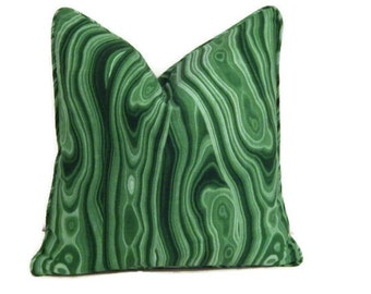 Green Pillow Cover-Robert Allen Malakos Malachite Pillow-Emerald Green Pillow-Green Agate Pillow