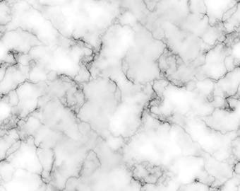 Marbled Fabric Mixology  Luxe White From Camelot 100% Cotton