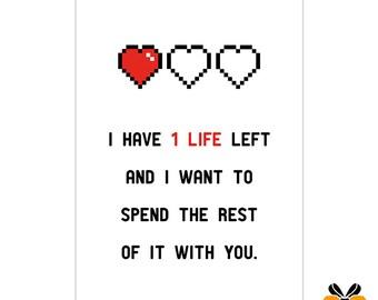 1 Life - A5 Romantic Card