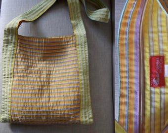 1990's ribbon purse tote San Diego Hat Co. beach bag Club Kid