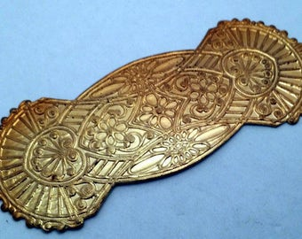 Vintage Art Nouveau Deco Brass Large Stamping Finding