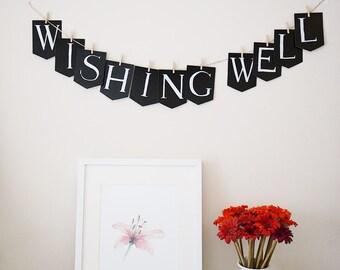 Wishing well banner