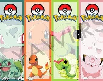 "Digital Download, Printable Bookmarks ""Pokemon"""