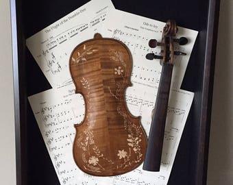 Violin Wall Display Etsy