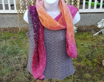 Super soft knit scarf, wrap scarf holiday gift, woman scarf, scarves and wraps community coral