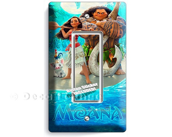 Disney Moana 1 Bar Light Switch Cover