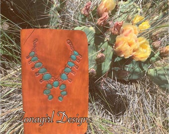 Leather Squash Blossom Traveler's Notebook/Planner