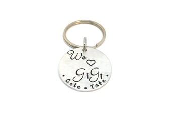 GiGi Keychain-We love you Keychain-Personalized with names