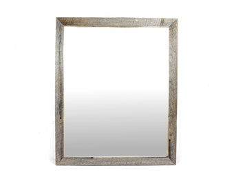 Reclaimed Wood Pine Wall Mirror, Bathroom Mirror, Vanity Mirror, Entryway Mirror, Barnwood Mirror