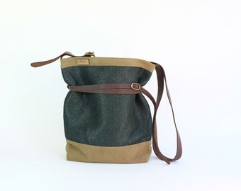 Green Crossbody Bag \ Hip Bag Nori Green \ Mikuya